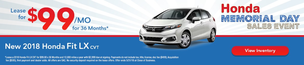 New 2018 Honda Fit Peoria AZ