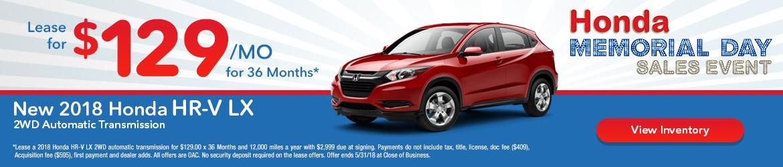 New 2018 Honda HR-V Peoria AZ