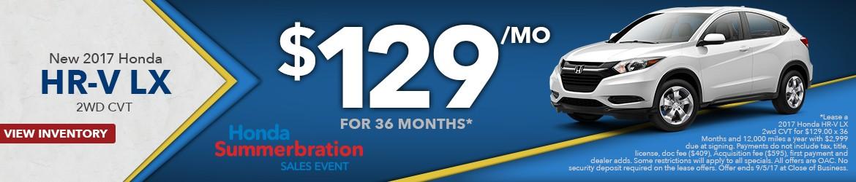 New 2017 Honda HR-V LX 2WD Peoria AZ