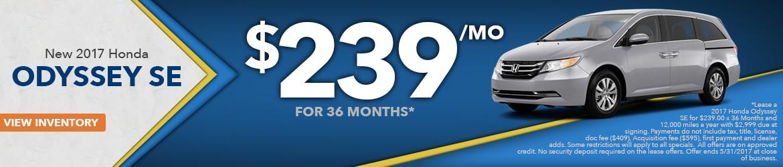 New 2017 Honda Odyssey Peoria AZ