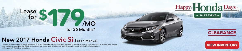 New 2017 Honda Civic Si Peoria AZ