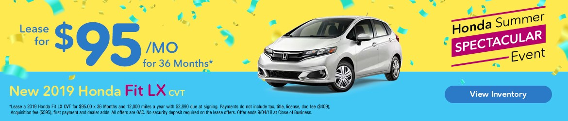New 2019 Honda Fit LX Peoria AZ
