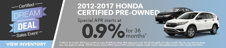 Honda Certified Pre-Owned sale Peoria AZ