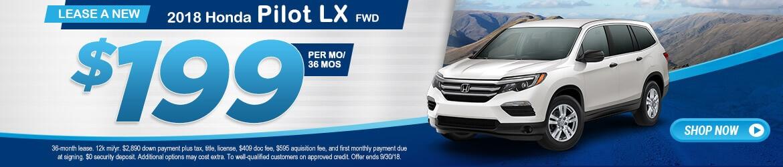 New 2018 Honda Pilot LX Peoria AZ