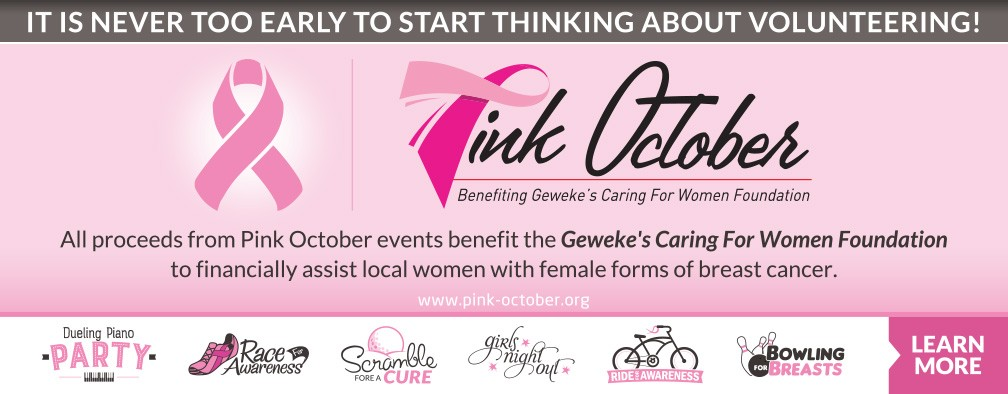 Pink October - It's never too early to start thinking about volunteering!