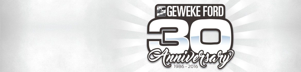Geweke Ford's 30th Anniversary!