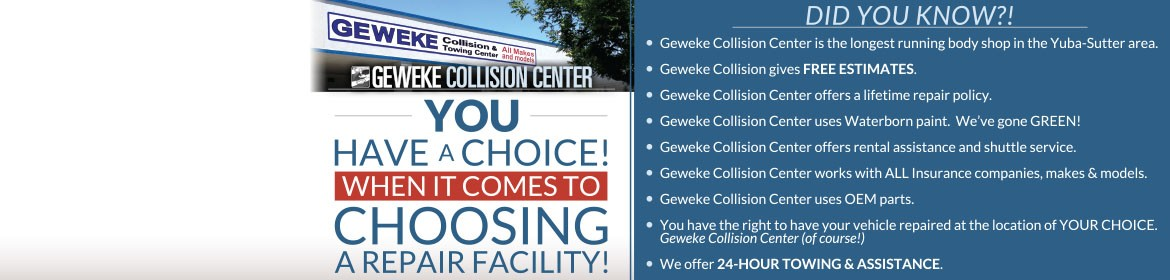 Geweke Collision Center - You have a choice when it comes to choosing a repair facility!