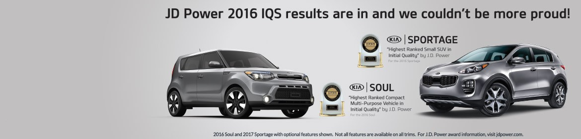Kia Highest Ranked Compact Multi-Purpose Vehicle in Initial Quality and Highest Ranked Small SUV in Initial Qulaity