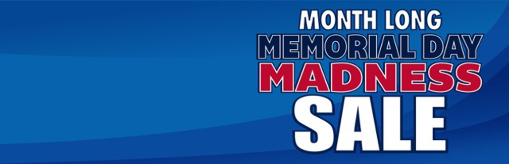 Month Long Memorial Day Sale