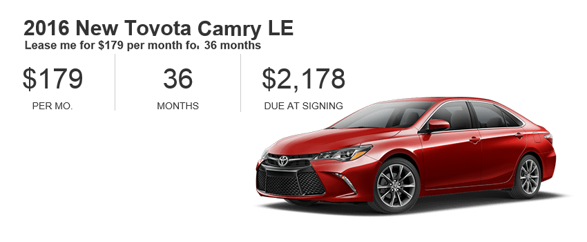 Camry Lease Specials