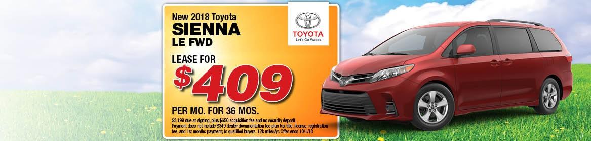 2018 Toyota Sienna LE FWD