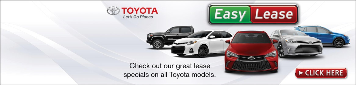 Easy lease deals on all Toyota Models in Braintree, MA