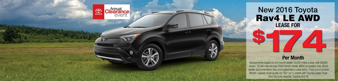 New RAV4 AWD Lease Deal Braintree, MA