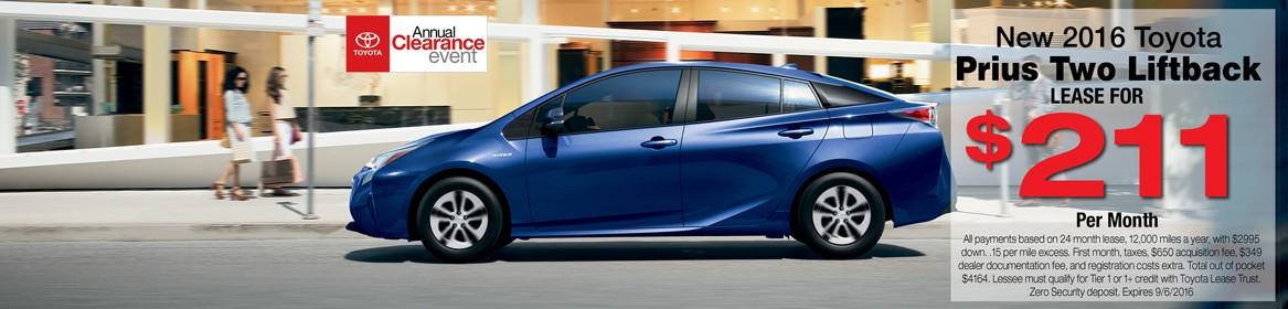 Prius Two Liftback Lease Deal Braintree, MA