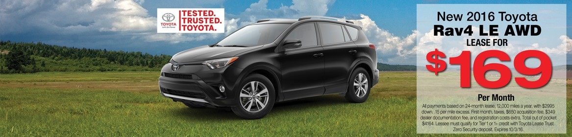 2016 Rav4 for Lease in Braintree, MA at Toyota of Braintree