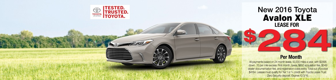 New 2016 Avalon XLE lease deal | Braintree, MA
