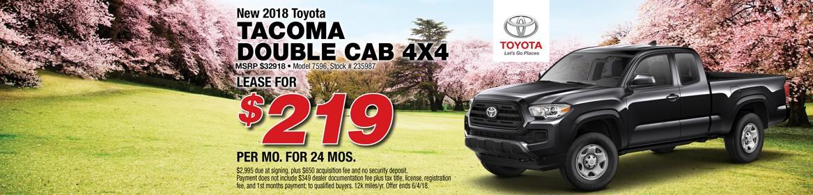2018 Tacoma Double Cab 4x4