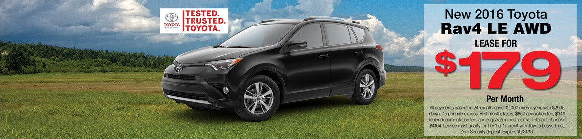 Rav4 LE AWD now on lease at Toyota of Braintree