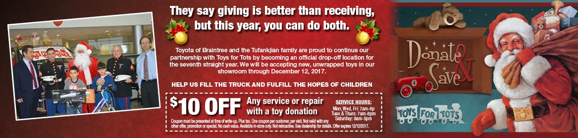 Toyota of Braintree Toys for Tots