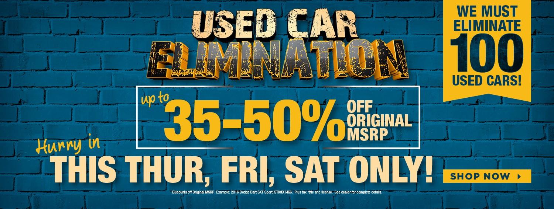 Used Car Elimination