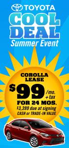$99 Corolla Lease