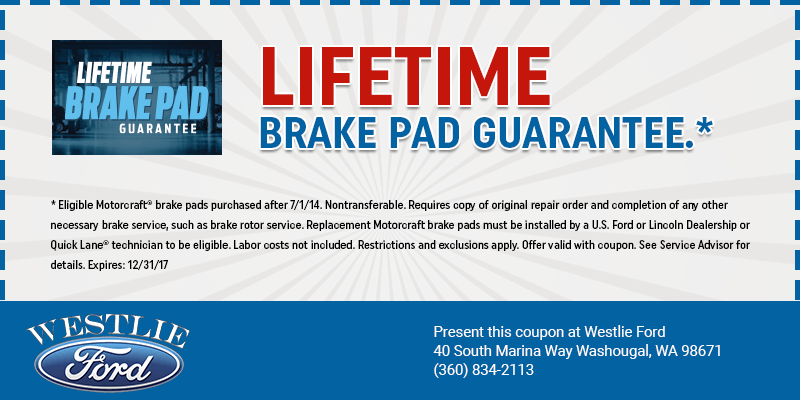 Life Time Brake Pad Guarantee