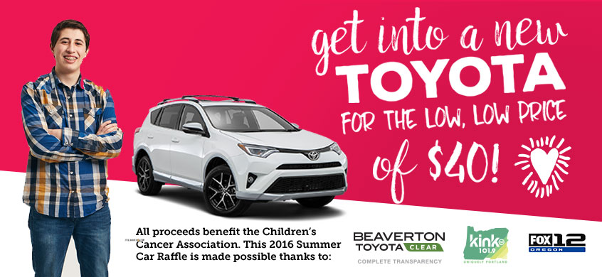 Beaverton Toyota proudly donates to Children's Cancer Association