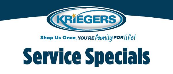 Kriegers Service Specials