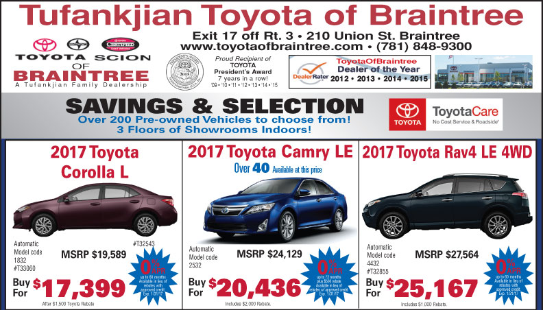 Toyota of Braintree Newspaper Ad