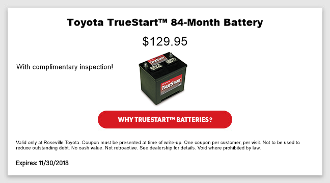 Toyota TrueStart™ 84-Month Battery