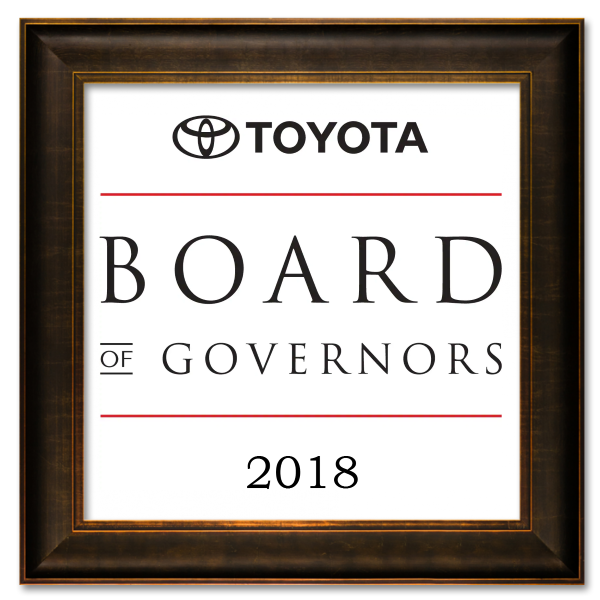 Toyota Board of Governors Award 2018