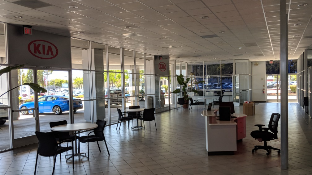 Expanded showroom area