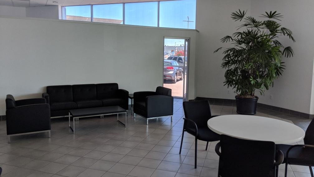 Comfortable showroom lounge spaces