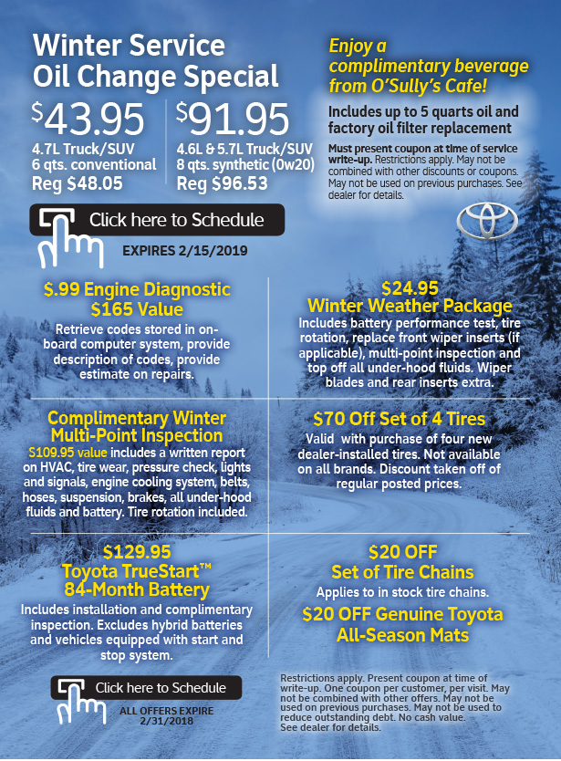 Parts & Service Coupons from Roseville Toyota