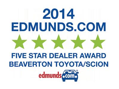 5 Stars on Edmunds 2014