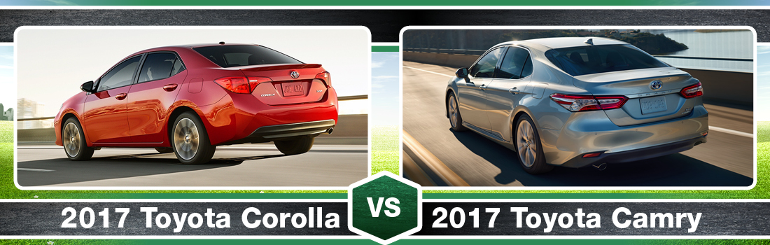2017 Toyota Corolla Vs. 2017 Toyota Camry Exterior And Design In Braintree,  MA