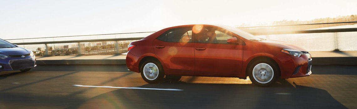2016 Toyota Corolla Driving Along Highway