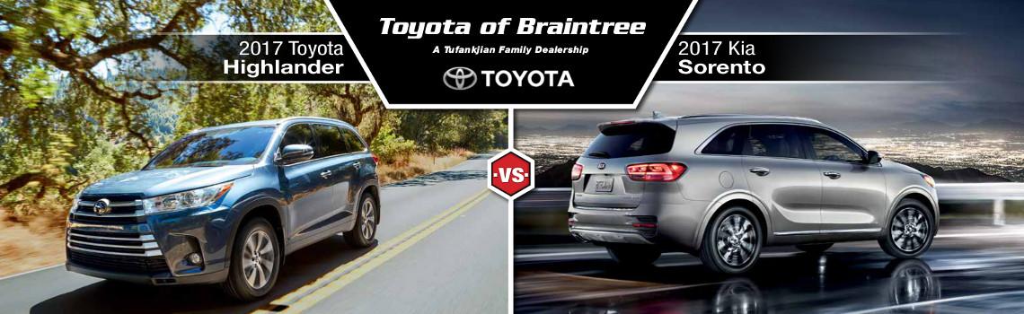 2017 Toyota Highlander Vs Kia Soo Of Braintree All About