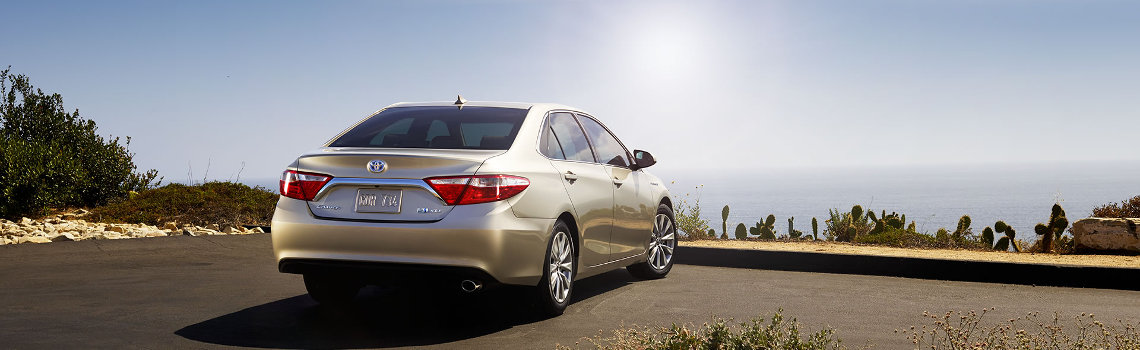 2017 Toyota Camry Parked Near Beach