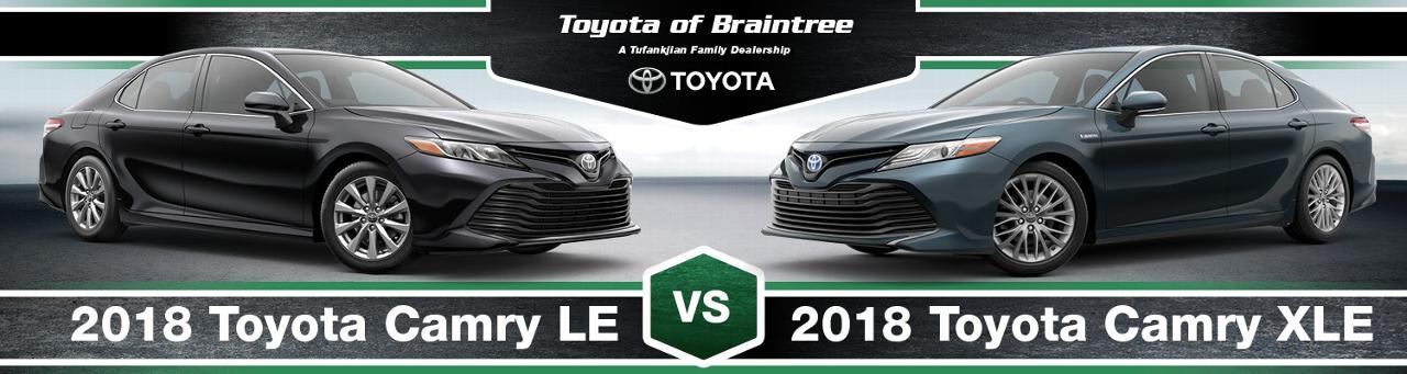 2018 Toyota Camry Le Vs Xle Trims