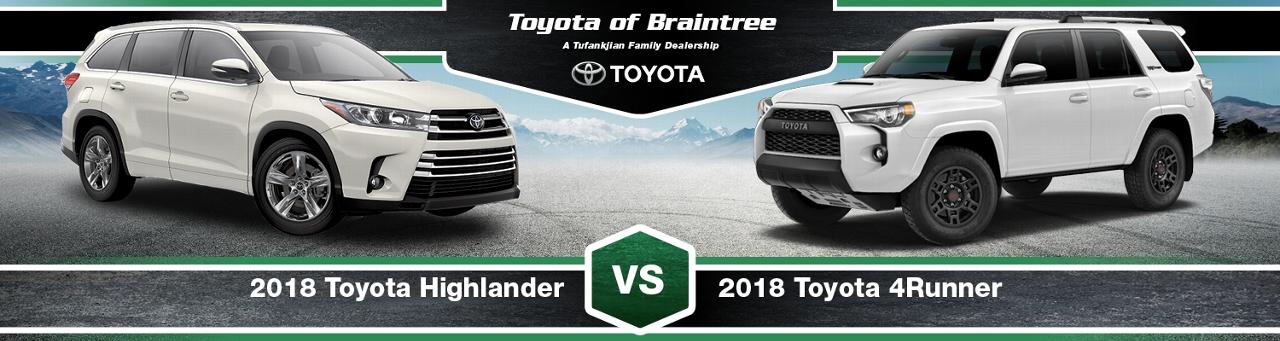 2018 Toyota Highlander Vs. 4runner