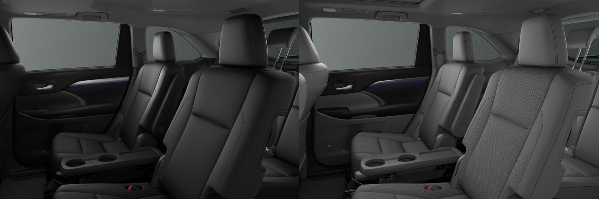 2018 Toyota Highlander Xle Vs Limited Platinum Interior