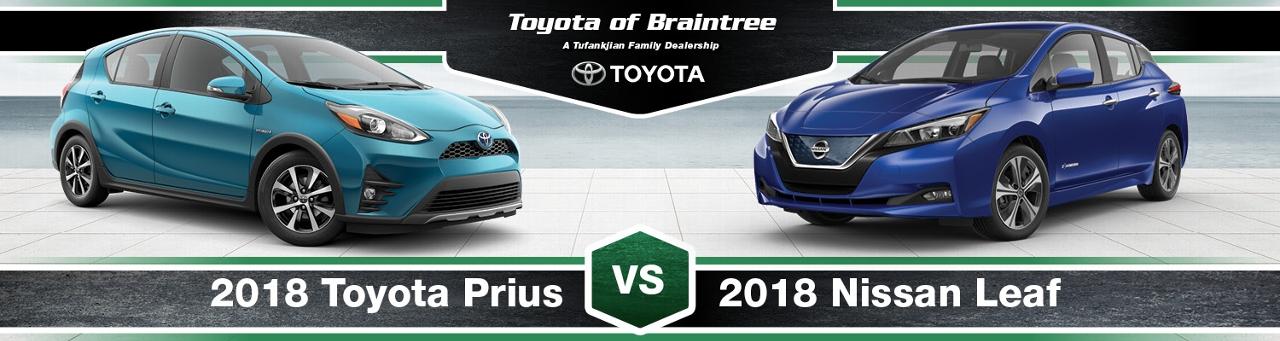 2018 Toyota Prius Vs Nissan Leaf