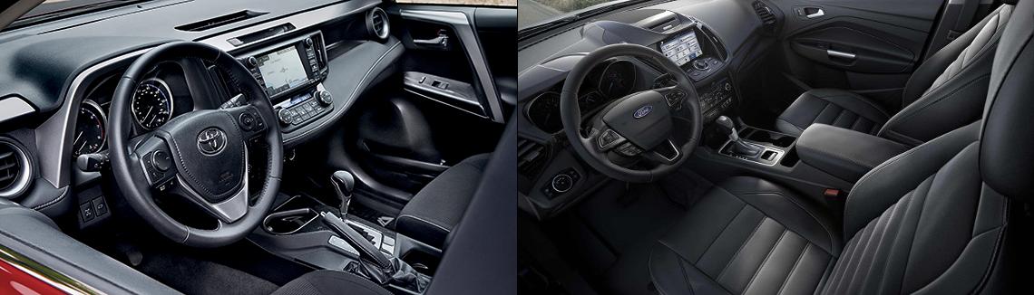 2018 Toyota Rav4 and Ford Escape Interior