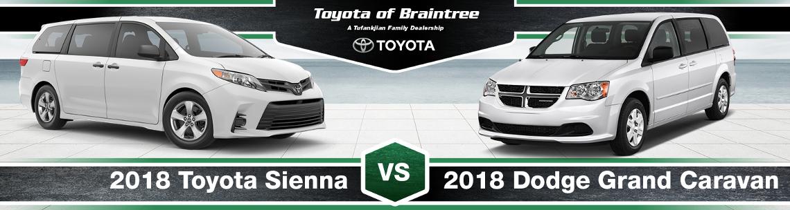 2018 Toyota Sienna vs. Dodge Grand Caravan