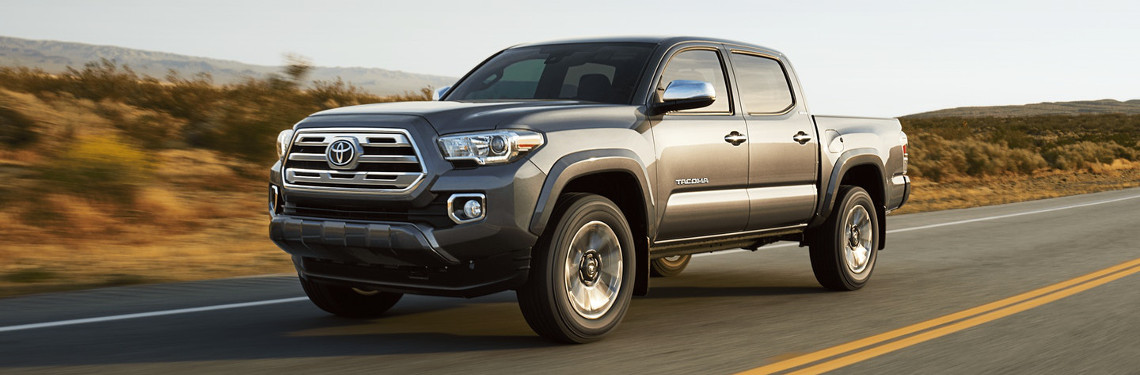 2018 Toyota Tacoma driving on a desert road