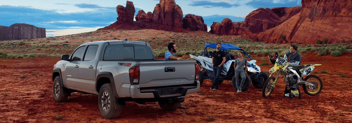 2018 Toyota Tacoma parked in a desert