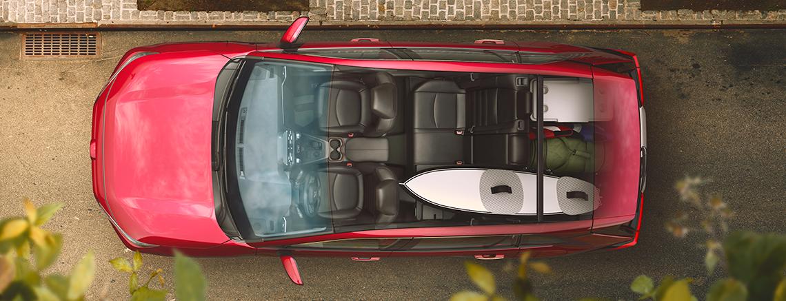 2019 Toyota RAV4 aerial view