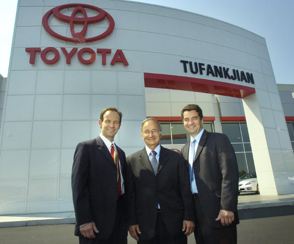 Dealership Owners Pictured Outside Toyota of Braintree
