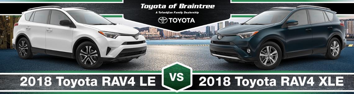 2019 Toyota Rav4 Le Vs Xle Trim Comparison In Braintree Ma